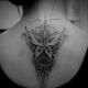 Пример тату в стиле Дотворк - Бабочка