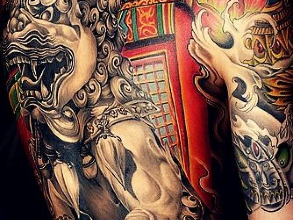 Пример японской тату якудза