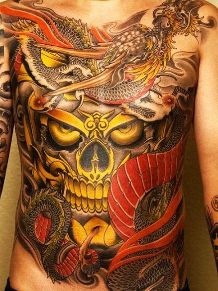 Пример татуировки стиля Ориентал