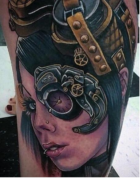 Пример тату в стиле Стимпанк