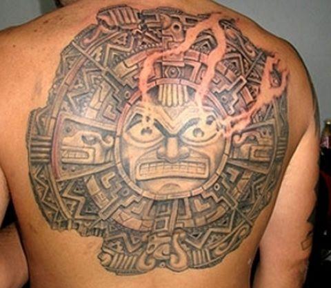 Пример тату стиля Майя